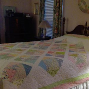 Soft Pastel Bed Quilt